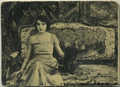 Cuban tobacco card shows Alma Rubens in Thoughtless Women 1920