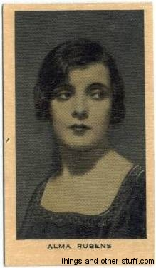 Alma Rubens 1928 Wills tobacco card
