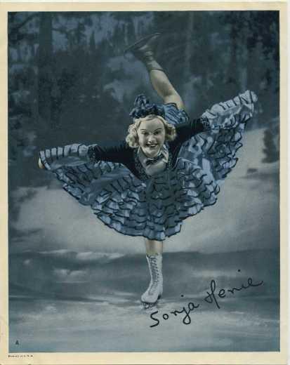 Sonja Henie mid-1930s 8x10 glossy paper premium photo