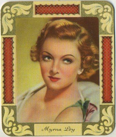 Myrna Loy 1930s Garbaty Tobacco Card