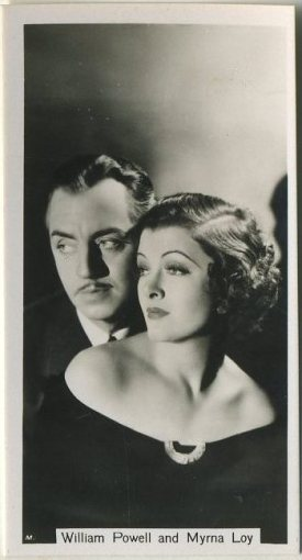 William Powell and Myrna Loy 1937 Sinclair Tobacco Card