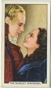 Leslie Howard and Merle Oberon The Scarlet Pimpernel Tobacco Card