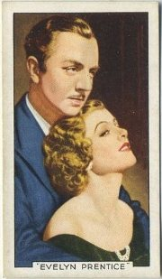 William Powell and Myrna Loy Evelyn Prentice Tobacco Card