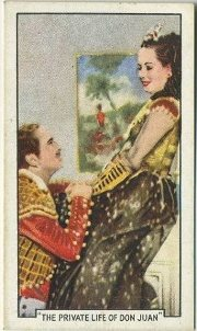 Douglas Fairbanks and Merle Oberon The Private Life of Don Juan Tobacco Card