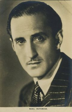 Basil Rathbone 1930s Film Weekly Postcard