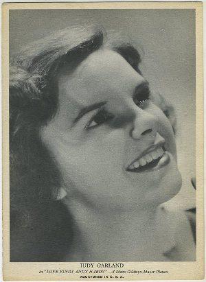 Judy Garland 1930s R96 Aquatoned in USA Trading Card