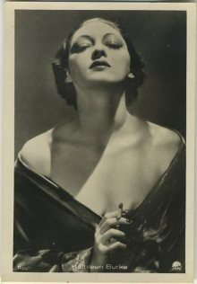 Kathleen Burke 1930s Haus Bergmann Tobacco Card