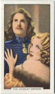 John Loder and Marlene Dietrich The Scarlet Empress Tobacco Card