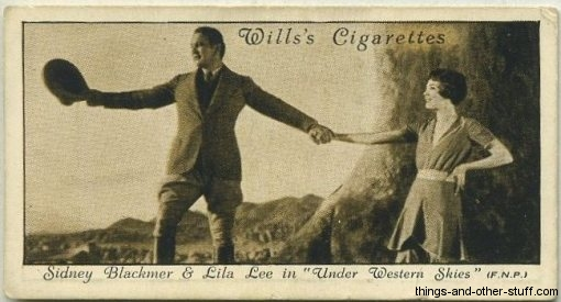 Sidney Blackmer and Lila Lee on a 1931 Wills tobacco card