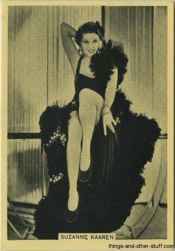 Suzanne Kaaren 1939 tobacco card