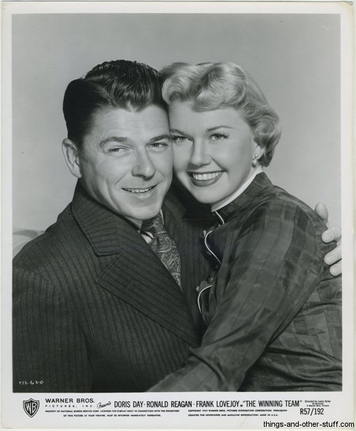 Ronald Reagan and Doris Day in The Winning Team