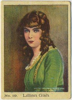 Lillian Gish 1920s Sociedad Industrial Tobacco Card