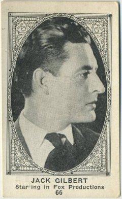John Gilbert 1920s American Caramel Trading Card