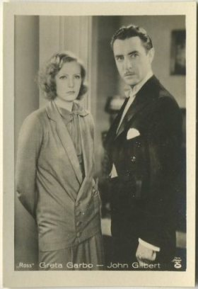 Greta Garbo and John Gilbert 1930s A Batschari Tobacco Card