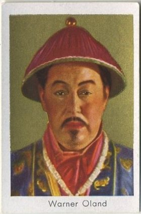 Warner Oland 1930s Bulgaria Tobacco Card