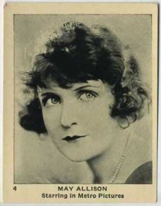 May Allison 1920s Egyptian Prettiest Trading Card