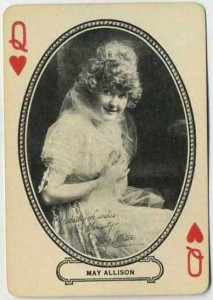 May Allison 1916 MJ Moriarty Playing Card