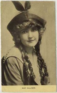 May Allison 1910s Era Postcard