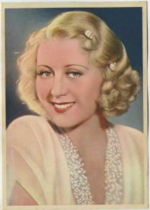 Joan Blondell 1936 Nestle Trading Card