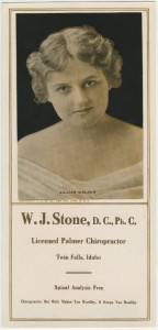 Lillian Walker featured on a 1922 Ink Blotter