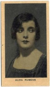 Alma Rubens 1928 Wills Film Favourites Tobacco Card