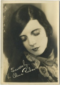Alma Rubens vintage 5x7 Fan Photo