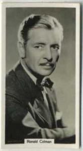 Ronald Colman 1939 RJ Lea Tobacco Card