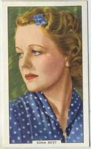 Edna Best 1939 Gallaher Tobacco Card