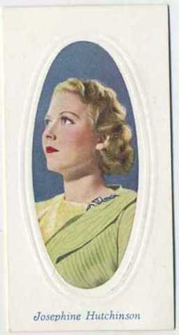 1936 Godfrey Phillips Screen Stars Tobacco Card featuring Josephine Hutchinson