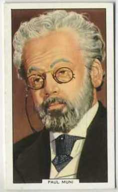 1939 Gallaher My Favourite Part tobacco card showing Paul Muni as Louis Pasteur