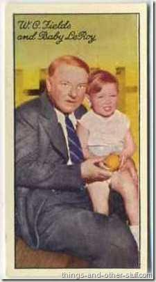 WC Fields and Baby LeRoy on a 1935 Carreras tobacco card