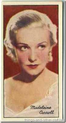 Madeleine Carroll 1935 Carreras Film Stars tobacco card
