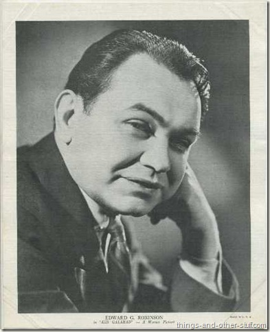 Edward G Robinson 1936 R95 8x10 linen textured premium photo