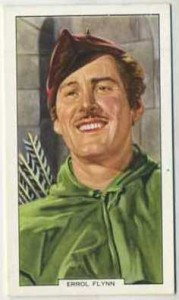 Errol Flynn 1939 Gallaher Tobacco Card