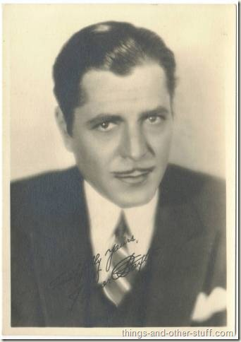 Warner Baxter 1920s era 5x7 Fan Photo