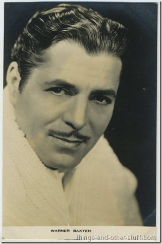 Warner Baxter 1930s Film Weekly Postcard