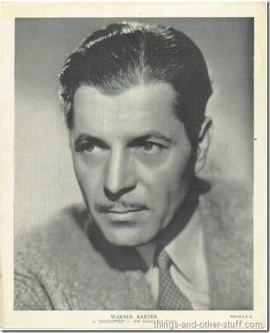 Warner Baxter 1936 R95 8x10 Premium Photo