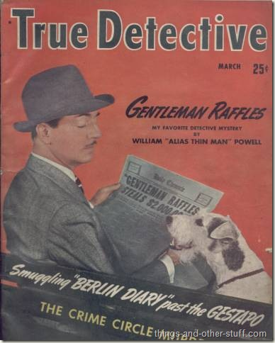 William Powell and Asta on the cover of the March 1942 issue of True Detective Magazine