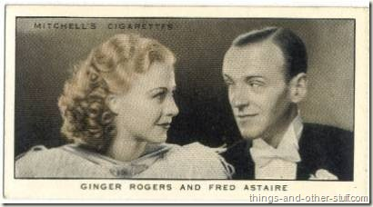 Ginger and Fred on a 1936 Mitchell's Gallery of 1935 tobacco card