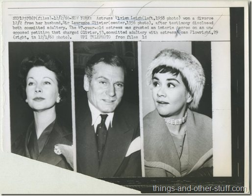 1960 Vivien Leigh Laurence Olivier Joan Plowright