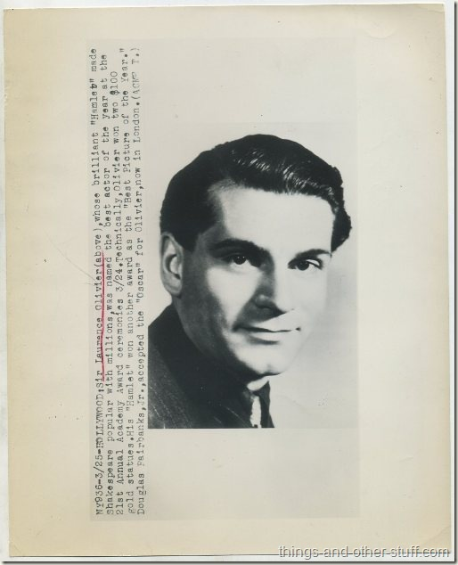 1949 Sir Laurence Olivier