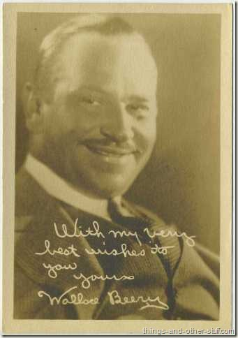 Silent age Wallace Beery on 5x7 Fan Photo