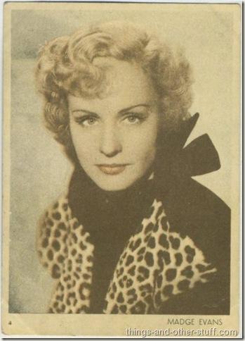 Madge Evans 1930's tobacco premium from Uruguay