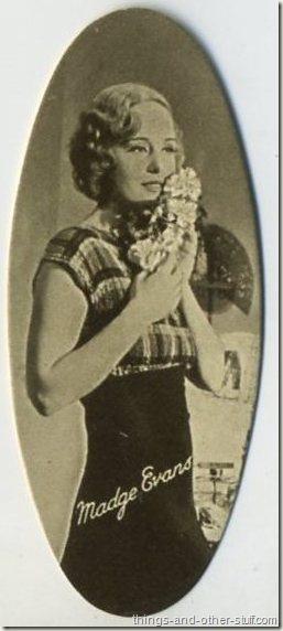 Madge Evans 1934 Carreras Film Stars tobacco card