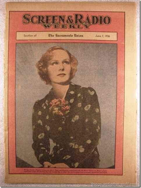 Madge Evans on the cover of the June 7, 1936 issue of Screen & Radio Weekly