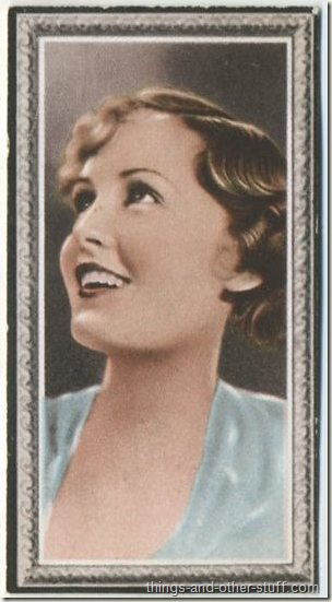 Madge Evans 1936 Godfrey Phillips Stars of the Screen tobacco card