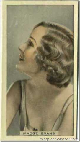 Madge Evans 1936 Hill tobacco card