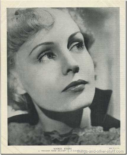 Madge Evans 1936 R95 8x10 linen textured premium photo promoting Pennies From Heaven
