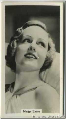 Madge Evans 1939 RJ Lea Famous Films Stars tobacco card