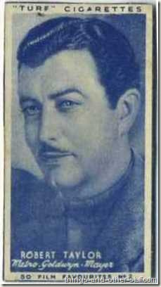 1948 Turf Cigarettes tobacco card of Robert Taylor